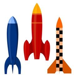 set of rockets EPS10 vector image vector image