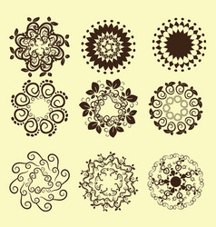 set of vintage design elements12 vector image vector image