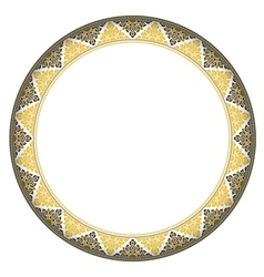 Thai style complex circle frame vector image
