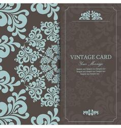 vintage invitation card dark vector image