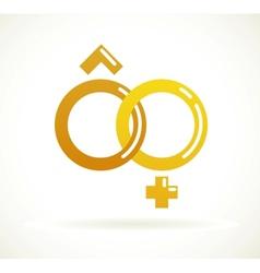 Wedding icon - golden rings vector image vector image