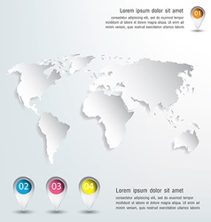 3d world map and infographics Design vector image