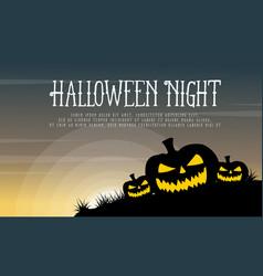 Halloween with pumpkin background style vector