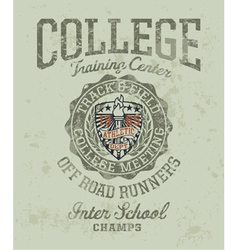 Track and field college meeting vector image