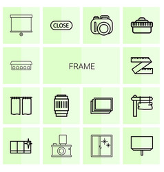 14 frame icons vector