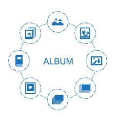 8 album icons vector