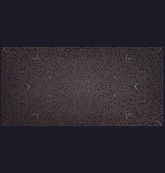 abstract geometric golden background art vector image