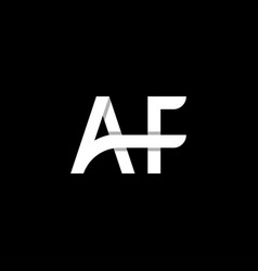 Af letter logo design template eps vector