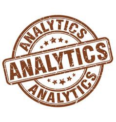 Analytics brown grunge stamp vector
