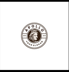 Apollo head logo vector