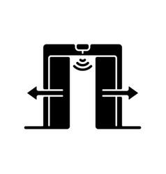 Automatic door black glyph icon vector