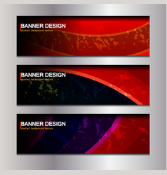 banner header design vector image