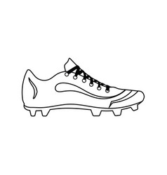 Baseball boot icon vector