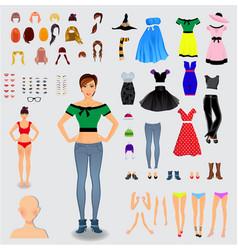 Big set for creation unique woman character vector
