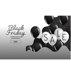 black friday organic styleballoon banner vector image