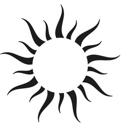 Black sun border vector