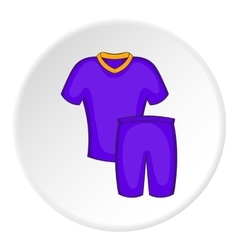 Blue football uniform icon cartoon style vector