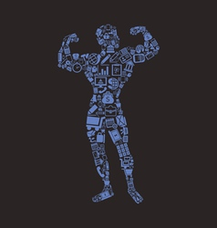 Bodybuilding business vector
