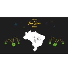 Brazil Hapy New Year Map vector