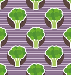 broccoli pattern Seamless texture vector image