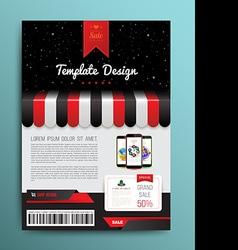 brochure template design shop style vector image