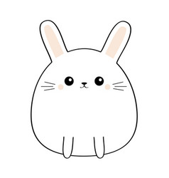 Bunny rabbit cute kawaii cartoon characterfunny vector