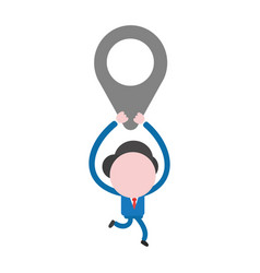businessman character running and carrying map vector image