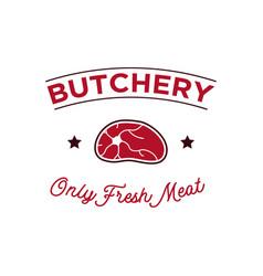 butchery meat logo design inspiration vector image
