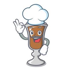 chef irish coffee character cartoon vector image