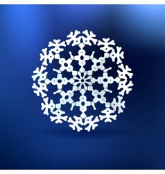 Christmas blue background with snowflake vector image vector image