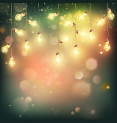 christmas night lights background eps 10 vector image