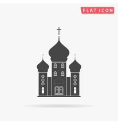 Church simple flat icon vector