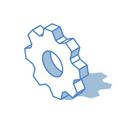cogwheel icon isolated on white background vector image