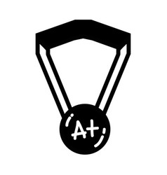 Contour school medal symbol to intelligent student vector