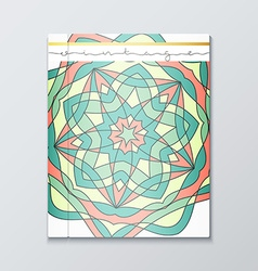 Cover books Bright patterned cover for catalog vector image