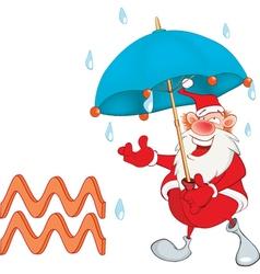 Cute Santa Claus Astrological Sign in the Zodiac vector