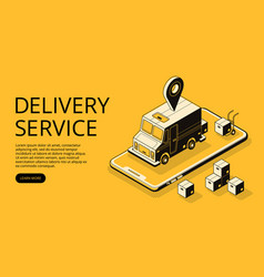 delivery service halftone vector image