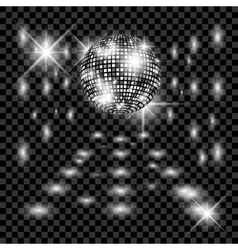 Disco ball with glow Really transparency effect vector