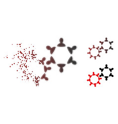 dust pixel halftone collaboration icon vector image