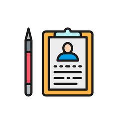 Folder tablet with pen case history medical vector