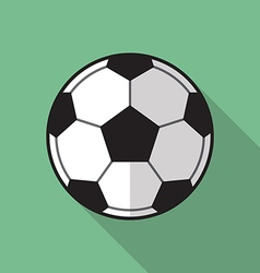 Football soccer ball flat icon vector image