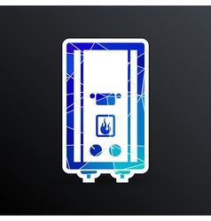 Gas Boiler apparatus tank display thermal vector