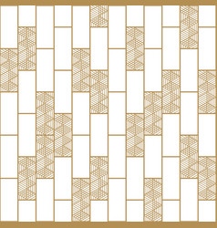 gold background brown textureblock pattern vector image