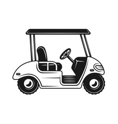 Golf cart or buggy side view black object vector
