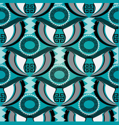 greek tribal seamless pattern vector image