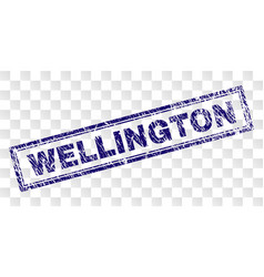 Grunge wellington rectangle stamp vector
