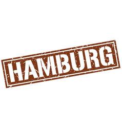 hamburg brown square stamp vector image