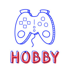 hand draw gamepad icon in doodle style for your vector image