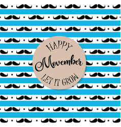 Happy movember vector