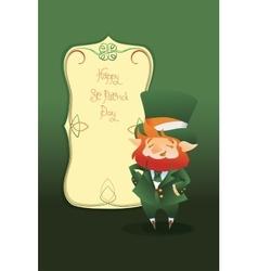Happy St Patrick Day gratters cartoon Leprechaun vector image
